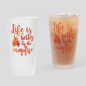 Life's Better Campfire Drinking Glass
