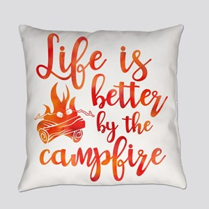 Life's Better Campfire Everyday Pillow