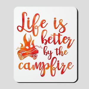 Life's Better Campfire Mousepad