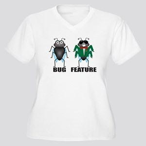 Bug vs Feature Plus Size T-Shirt