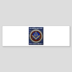 A Mason's Trust Bumper Sticker