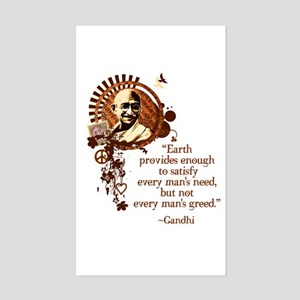Funky Gandhi -Earth provides enough... Sticker (Re
