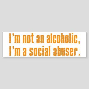 Social Abuser Bumper Sticker