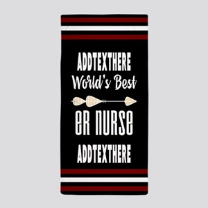Emergency Room Nurse Gift Personalized Beach Towel