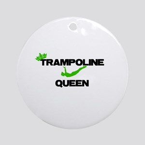 Trampoline Queen Round Ornament