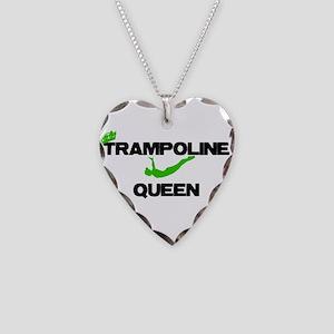 Trampoline Queen Necklace Heart Charm
