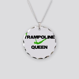 Trampoline Queen Necklace Circle Charm