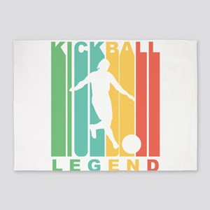 Retro Kickball Legend 5'x7'Area Rug