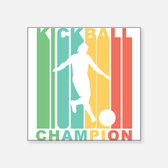 Retro Kickball Champion Sticker