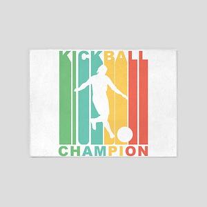 Retro Kickball Champion 5'x7'Area Rug