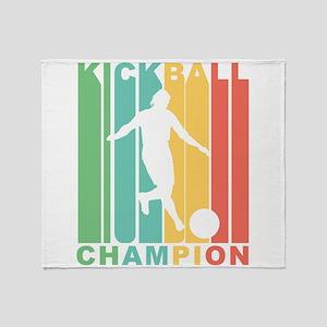 Retro Kickball Champion Throw Blanket