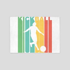 Retro Kickball 5'x7'Area Rug
