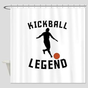 Kickball Legend Shower Curtain
