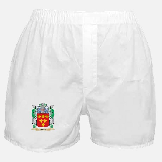 Penne Coat of Arms - Family Crest Boxer Shorts