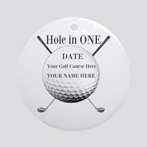 Hole In One Round Ornament