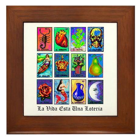 Captivating Loteria Celeste Framed Tile