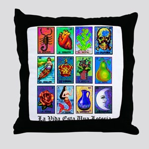 Loteria Celeste Throw Pillow