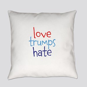 Love Trumps Hate Everyday Pillow