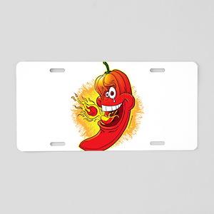 Red Hot Chili Pepper Aluminum License Plate