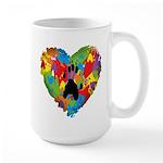 Paw Heart Large Mug Mugs