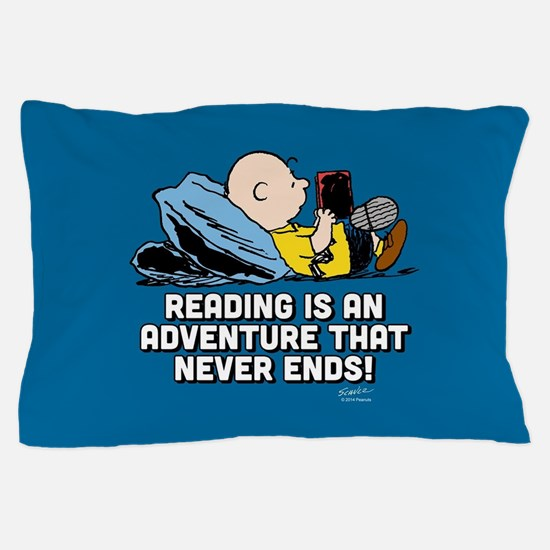 Charlie Brown - Reading is an Adventur Pillow Case