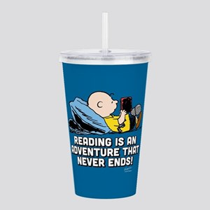 Charlie Brown - Readin Acrylic Double-wall Tumbler