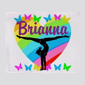 PERSONALIZE GYMNAST Throw Blanket
