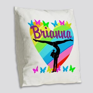 PERSONALIZE GYMNAST Burlap Throw Pillow