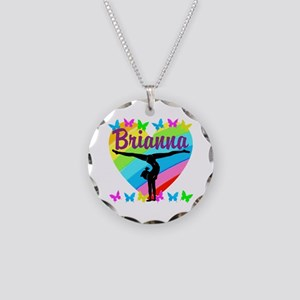 PERSONALIZE GYMNAST Necklace Circle Charm