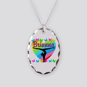 PERSONALIZE GYMNAST Necklace Oval Charm