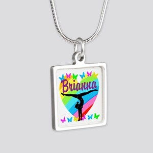 PERSONALIZE GYMNAST Silver Square Necklace