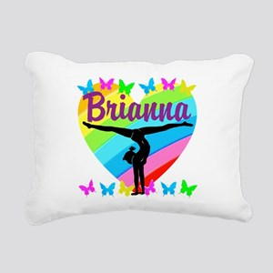 PERSONALIZE GYMNAST Rectangular Canvas Pillow