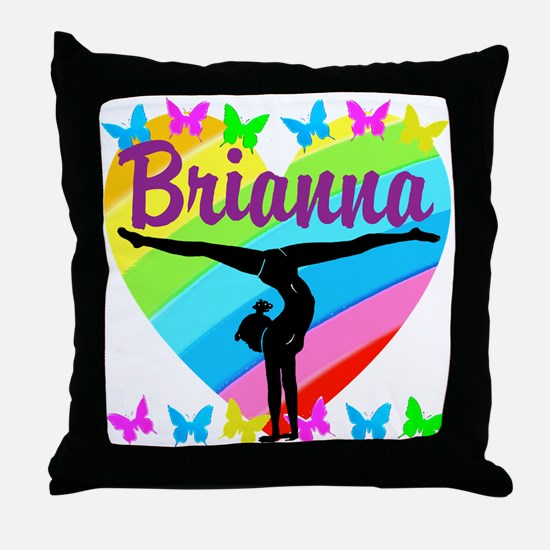 PERSONALIZE GYMNAST Throw Pillow