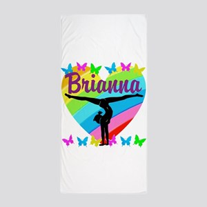 PERSONALIZE GYMNAST Beach Towel