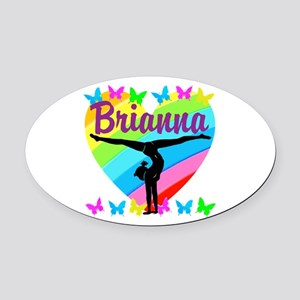 PERSONALIZE GYMNAST Oval Car Magnet
