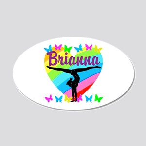 PERSONALIZE GYMNAST 20x12 Oval Wall Decal
