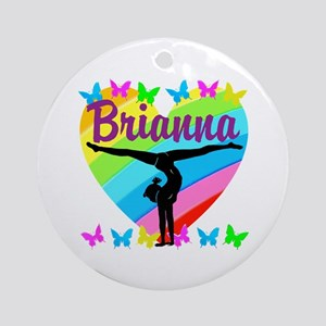 PERSONALIZE GYMNAST Round Ornament