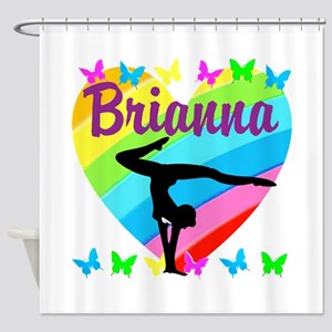 PERSONALIZE GYMNAST Shower Curtain