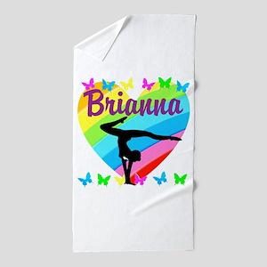 PERSONALIZE GYMNAST Beach Towel