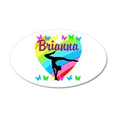 PERSONALIZE GYMNAST Wall Decal