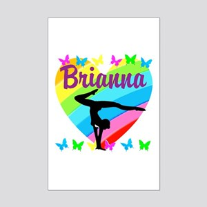 PERSONALIZE GYMNAST Mini Poster Print