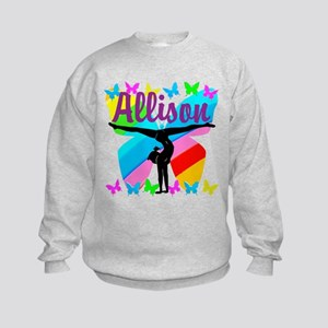 PERSONALIZE GYMNAST Kids Sweatshirt