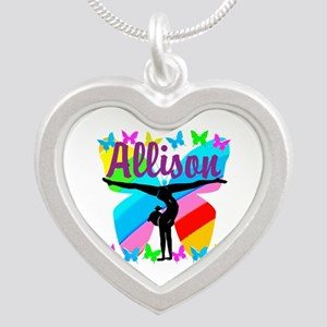 PERSONALIZE GYMNAST Silver Heart Necklace