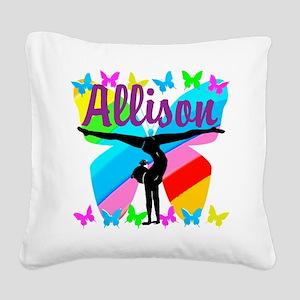 PERSONALIZE GYMNAST Square Canvas Pillow
