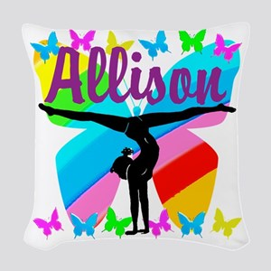PERSONALIZE GYMNAST Woven Throw Pillow