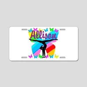 PERSONALIZE GYMNAST Aluminum License Plate