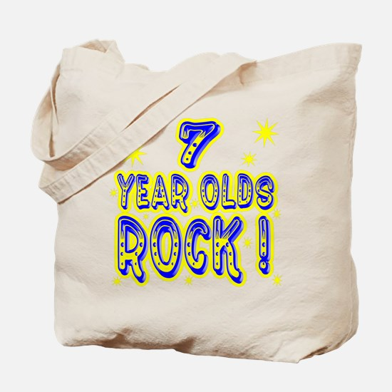 7 Year Olds Rock ! Tote Bag
