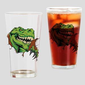T Rex Rips Drinking Glass