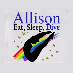 PERSONALIZE DIVER Throw Blanket