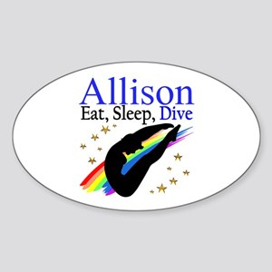 PERSONALIZE DIVER Sticker (Oval)